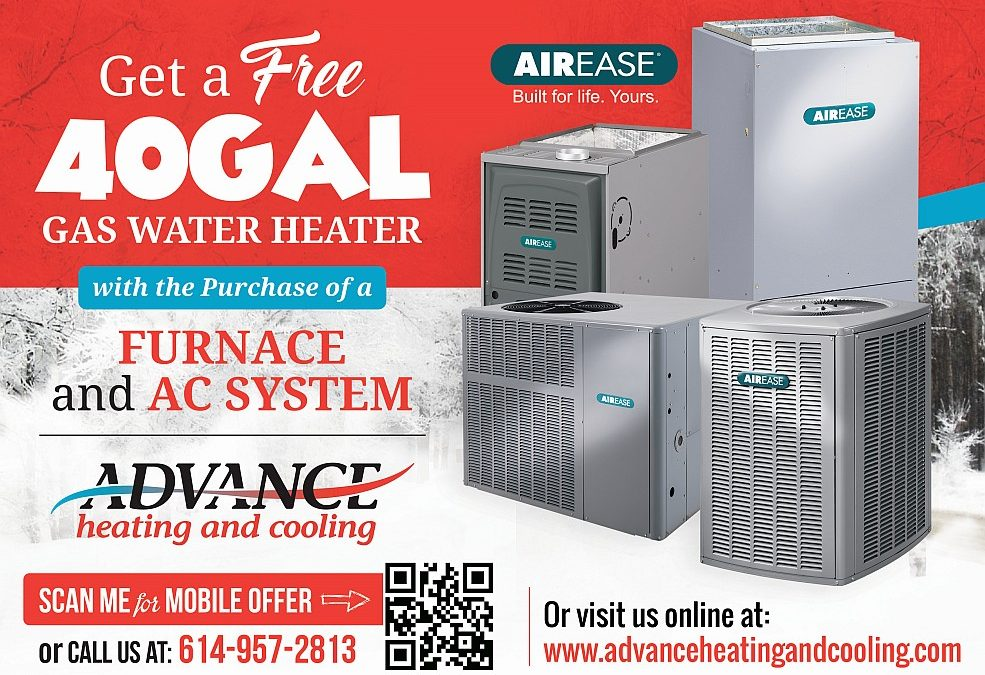 Get a FREE 40 Gallon Hot Water heater installed with Purchase of Furnace & AC System